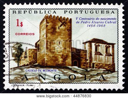 Castelo de Belmonte do selo postal Português Angola 1970