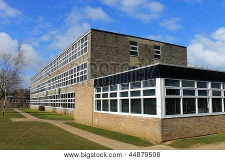 Exterior of secondary school building, Scarborough, England.