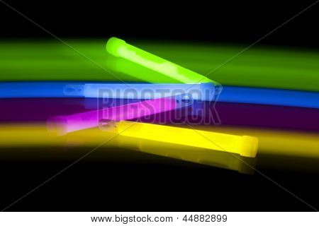 Glow sticks with movement and long time exposure