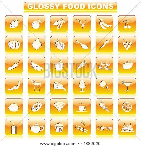 Glossy Food Button