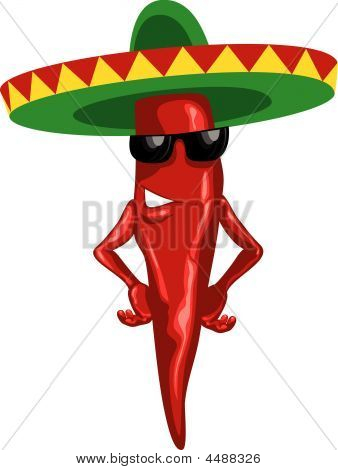 Hot Mexican Chili Green Sombrero.