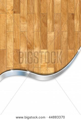 Wooden Floor Business Background