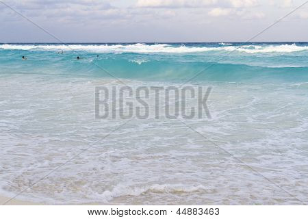 Beach Of The Caribbean Sea