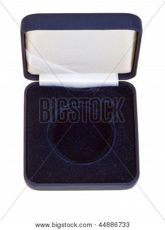 Open Empty Black Velvet Case