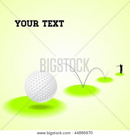Springenden Golfball