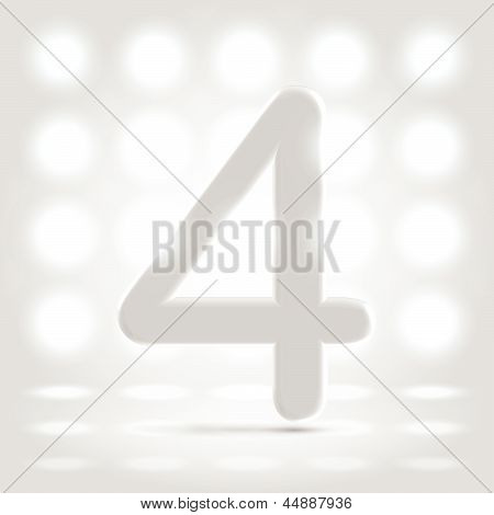 4 Over Lighted Background