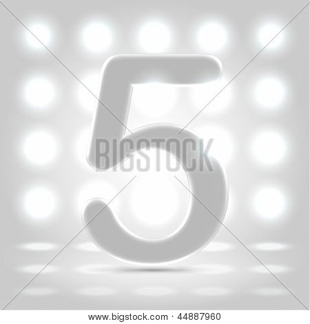 5 Over Lighted Background