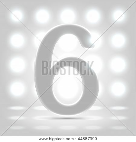6 Over Lighted Background