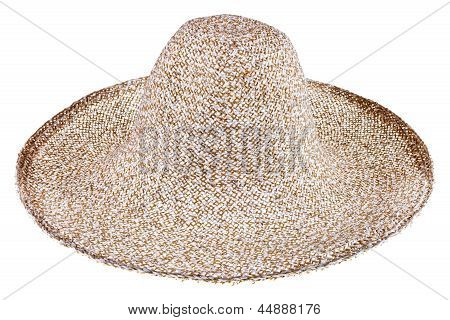 Simple Summer Straw Broad-brim Hat