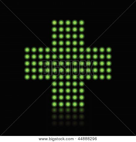 Green Light Dots Cross