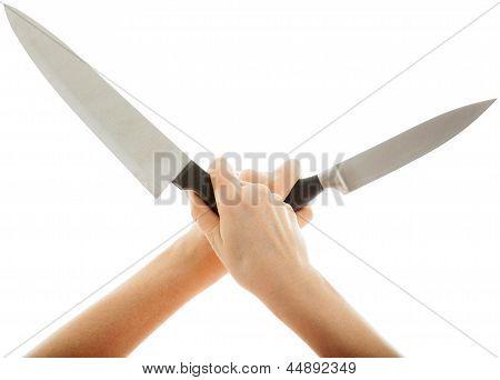 The Very Sharp Knife Held Crosswise