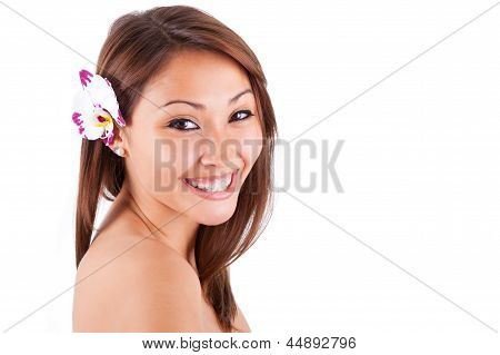 Headshot Portrait Of A Young Beautiful Asian Woman - Asian People