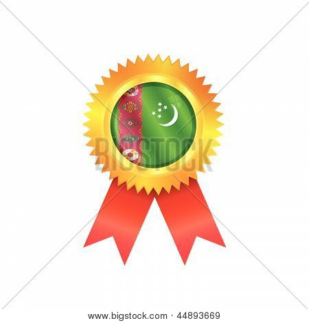 Turkmenistan Medal Flag