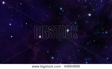Space starfield background