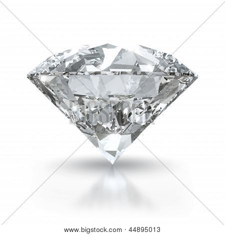 Diamond on white