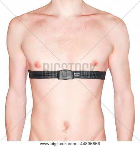 Naked Male Body And Pulse Belt