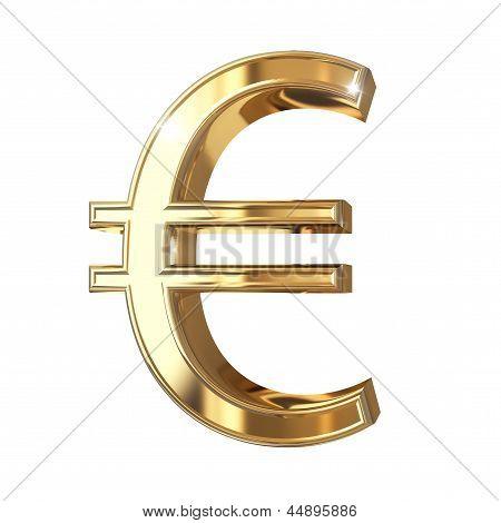 Golden 3D symbol