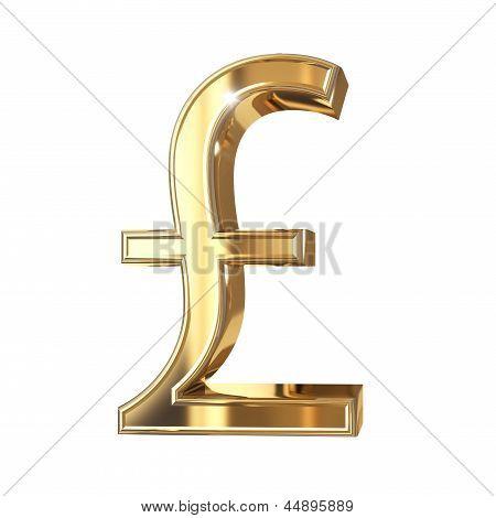 Golden pound symbol