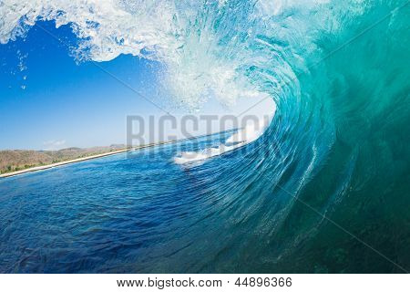 Onda tropical Blue Ocean