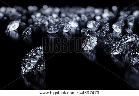 Luxury 3D diamonds background