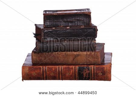 Stack Of Aged Books