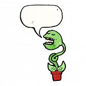 venus fly trap cartoon character