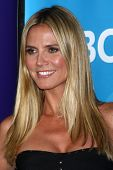 LOS ANGELES - APR 22:  Heidi Klum at the NBCUniversal Summer Pres Day 2013 at the Huntington Langham