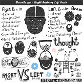 stock photo of right brain  - Doodle vector set  - JPG