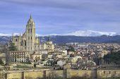 Segovia Cityscape. Famous Spanish Landmark poster