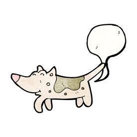 image of fart  - farting dog cartoon - JPG