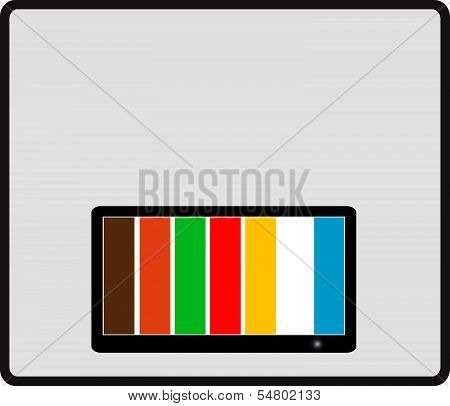 background with colorful tv