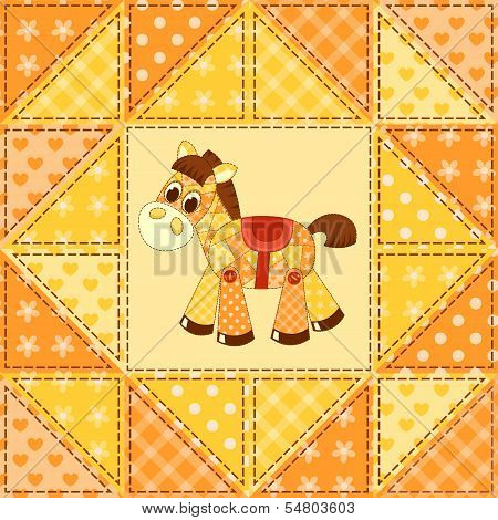 Application horse seamless pattern