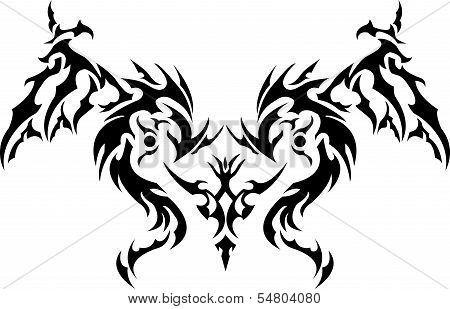 dragon heart isolated on white background