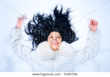 Woman On A Snow