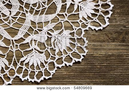 Lace On Wood