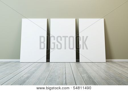 several blank picture in the room