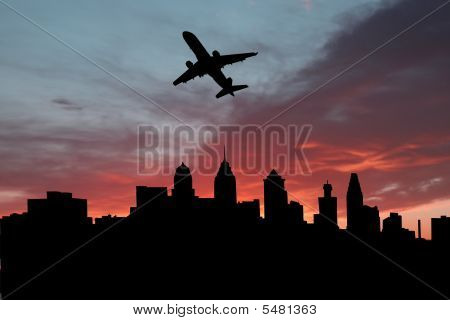 Plane Departing Philadelphia