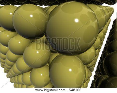 Narrow Perspective Angle 3d Balls