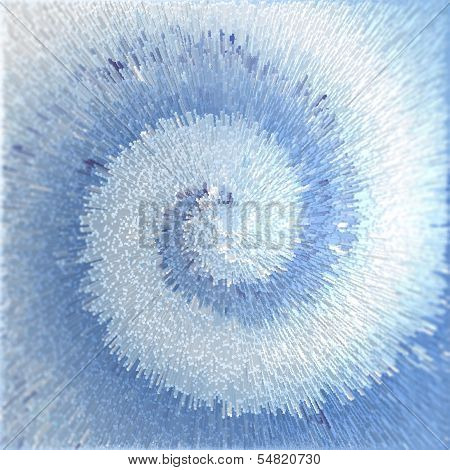 Abstract Blue Textured Background. Spiral Movement Effect.