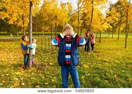 Boy Counting And Friends Finding