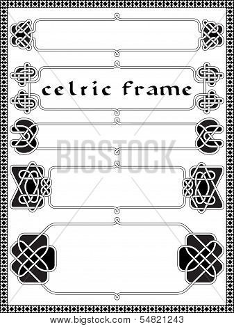 Frame In Celtic Style