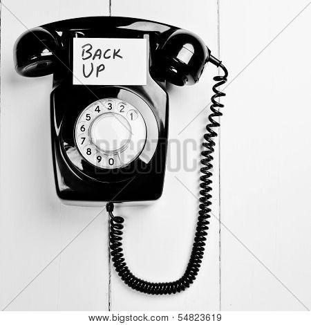 Retro Phone Customer Back Up Concept