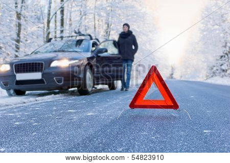 winter driving - car breakdown