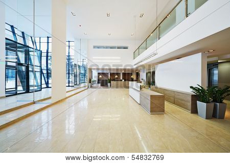 Lobby of business building