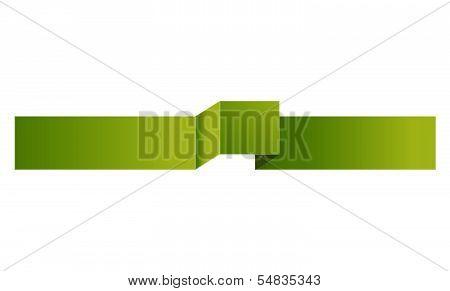 The green modern ribbon