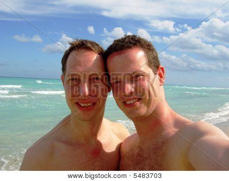 Gay Couple At The Beach