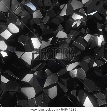 abstract facet black background