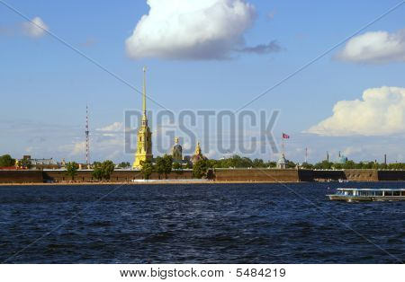 The Peter And Paul Fortress In Saint-petersburg