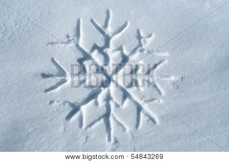Snowflake Written In Snow