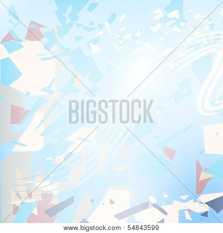 Abstract vector background with color splinter